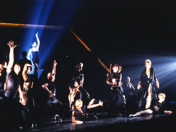 "Velma Kelly makes her entrance in the Broadway Musical ""Chicago"""